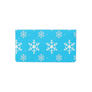 Beautiful Holiday Snowflake Pattern Checkbook Cover