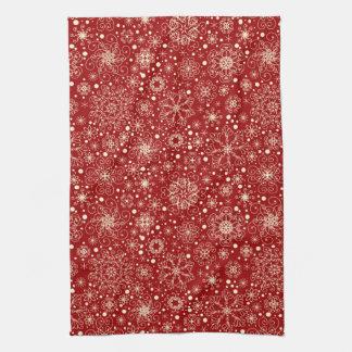 Beautiful Holiday Sparkle Snowflake Pattern Towel