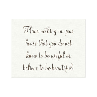 Beautiful Home Quote Canvas Print