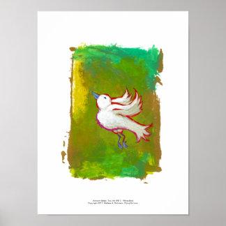 Beautiful hopeful inspirational white bird fun art print