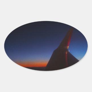 Beautiful Horizon Oval Sticker
