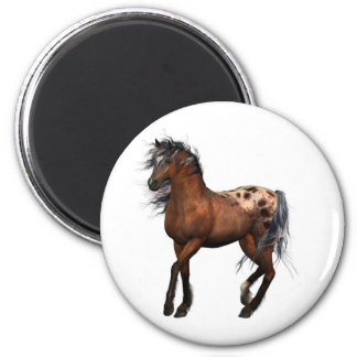 beautiful horse 2 inch round magnet