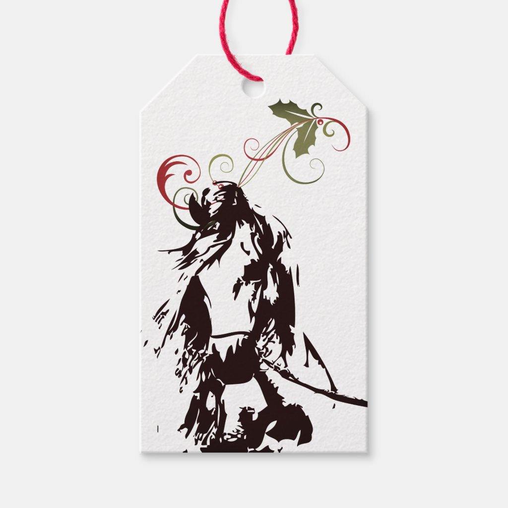 Beautiful Horse and Holly Winter Holiday Christmas Gift Tags