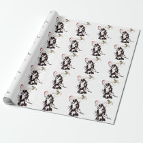 Beautiful Horse and Holly Winter Holiday Christmas Wrapping Paper
