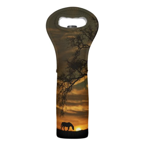 Beautiful Horse and Oak Tree Wine Gift Bag
