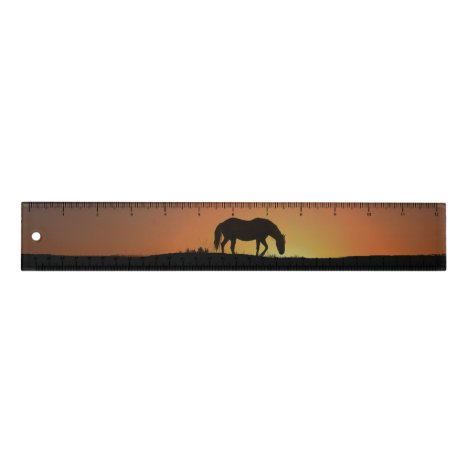 Beautiful Horse Art Ruler with Numbers