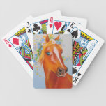 Beautiful horse bicycle playing cards