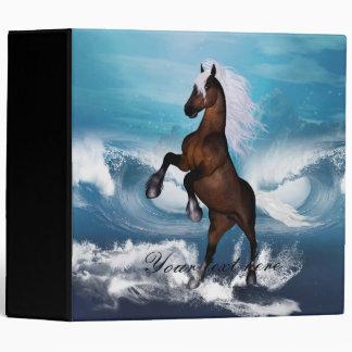 Beautiful horse vinyl binder