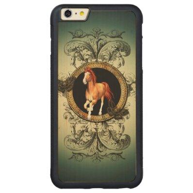 Beautiful horse carved® maple iPhone 6 plus bumper case