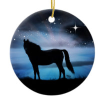 Beautiful Horse Christmas Ornament