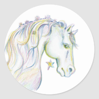 Beautiful Horse Classic Round Sticker