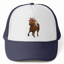 Beautiful Horse Delights Owners in Classic Race Trucker Hat