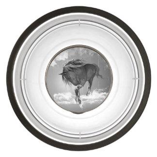 Beautiful horse drinking water pet bowl