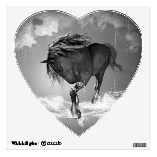 Beautiful horse drinking water wall decals