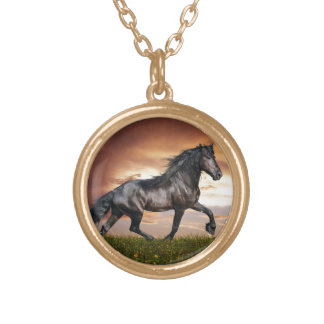 Beautiful Horse Gold Plated Necklace
