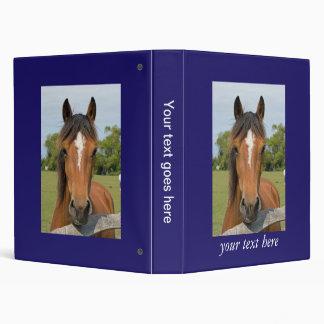 Beautiful horse head chestnut photo album, binder