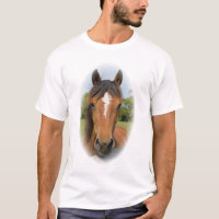 Beautiful horse head chestnut photo mens t-shirt
