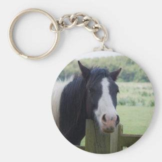 Beautiful Horse head close-up keychain, gift idea Basic Round Button Keychain