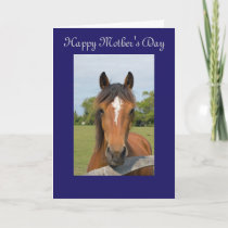 Beautiful horse head happy mother's day card