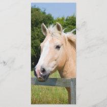Beautiful horse head palamino custom name bookmark