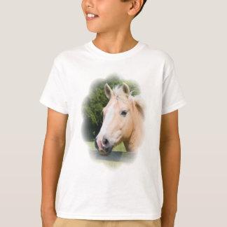 Beautiful horse head palamino photo kids t-shirt