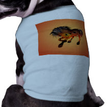 Beautiful horse in the sunset with birds shirt