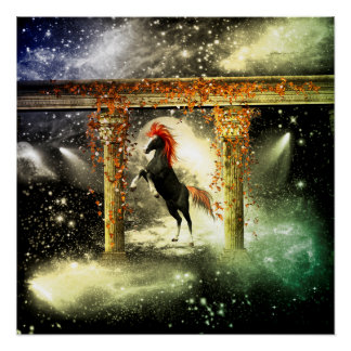 Beautiful horse in the universe poster