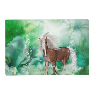 Beautiful horse in wonderland placemat