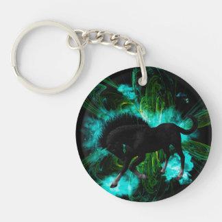 Beautiful horse Single-Sided round acrylic keychain