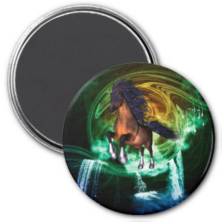 Beautiful horse 3 inch round magnet