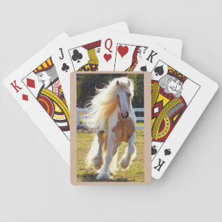 Beautiful Horse on a deck of cards