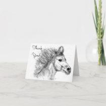 Beautiful Horse Pencil Sketch Greeting Card