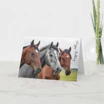 Beautiful Horse Personalized Birthday Card