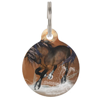 Beautiful horse pet ID tag
