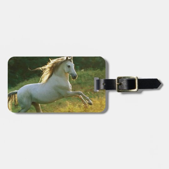 Beautiful horse running bag tag