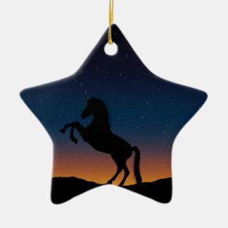 BEAUTIFUL HORSE STALLION CERAMIC ORNAMENT
