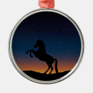BEAUTIFUL HORSE STALLION METAL ORNAMENT