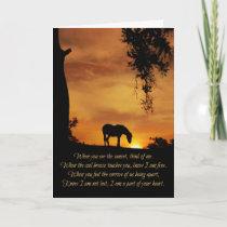 Beautiful Horse Sympathy Spiritual Poem Card