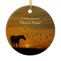 Beautiful Horse Sympathy Tribute Memorial Ceramic Ornament