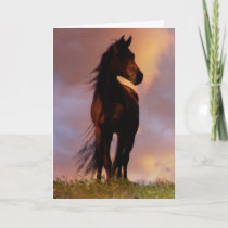 Beautiful Horse Thinking of You Card