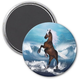 Beautiful horse with 3 inch round magnet