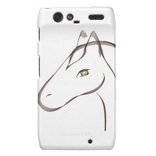Beautiful horse with green eyes original motorola droid RAZR cover
