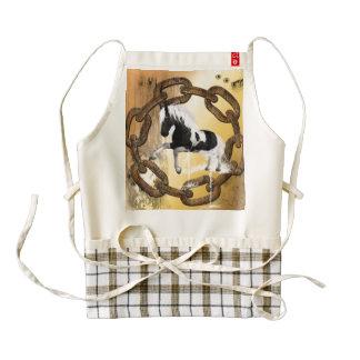 Beautiful horse with water splash zazzle HEART apron