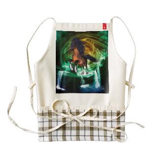 Beautiful horse zazzle HEART apron