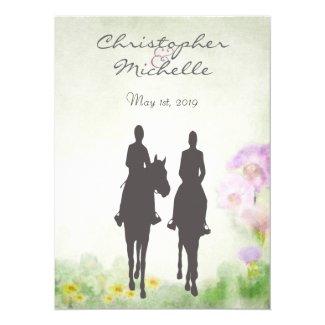 Beautiful Horseback Riding Couple Horse Wedding Invitation