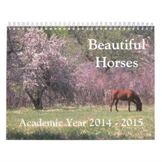 Beautiful Horses Academic Calendar 2014 2015 Wall Calendar