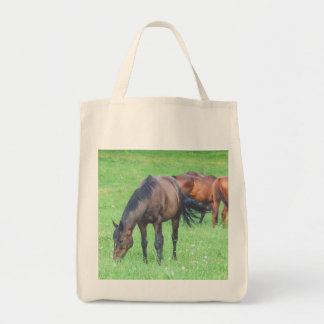 Beautiful HORSEs Animals Grocery Tote