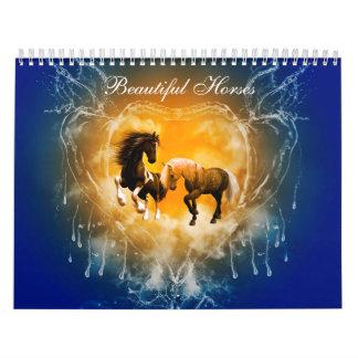 Beautiful Horses Custom Printed Calendar