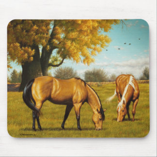 Beautiful Horses in Fall Colors. Mouse Pad