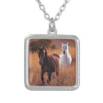 Beautiful Horses Silver Plated Necklace